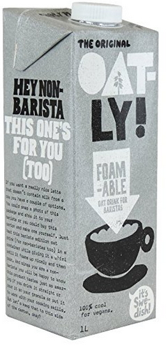 Vegan Tea Party Milk Oatly Foamable