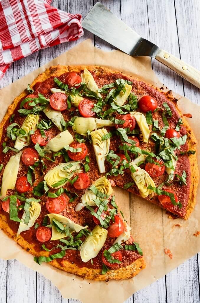 Vegan Sweet Potato Pizza Crust   The Green Loot #vegan #healthy