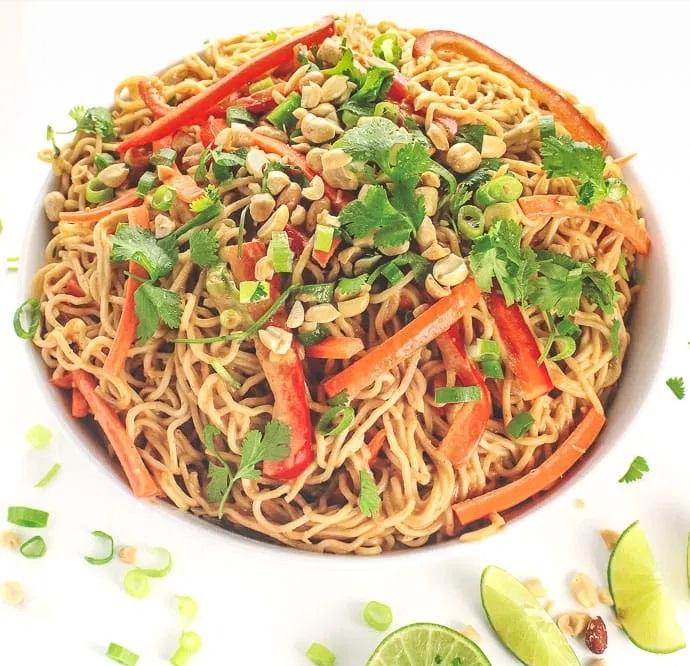 15-minute Peanut Noodles