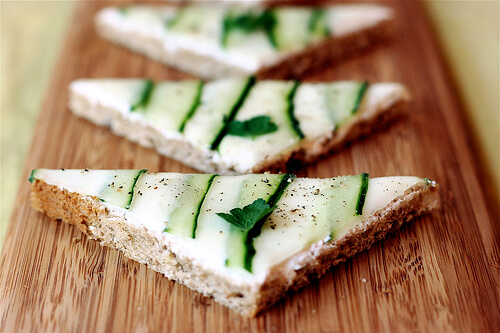 Vegan Cucumber Tea Sandwich