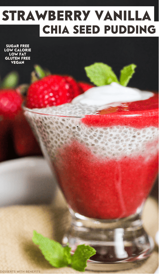 Vegan Strawberry Vanilla Chia Seed pudding, Avoid binge eating: