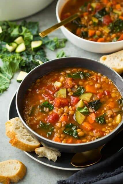 Vegan Italian Vegetable Lentil Soup