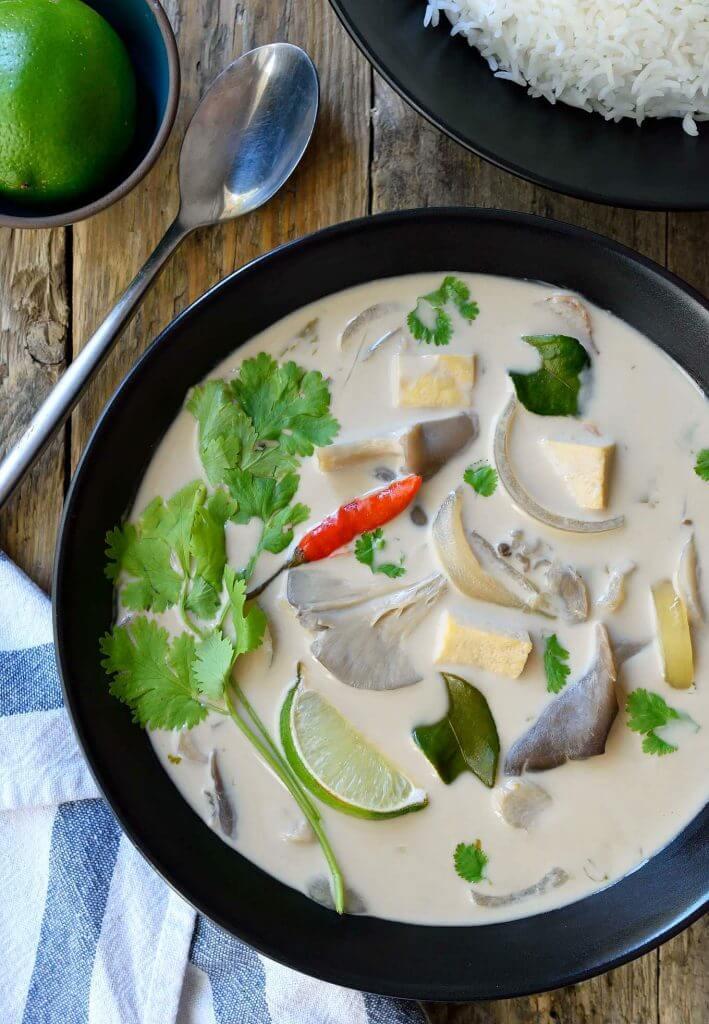 Vegan Thai Coconut Soup (Tom Kha Gai)