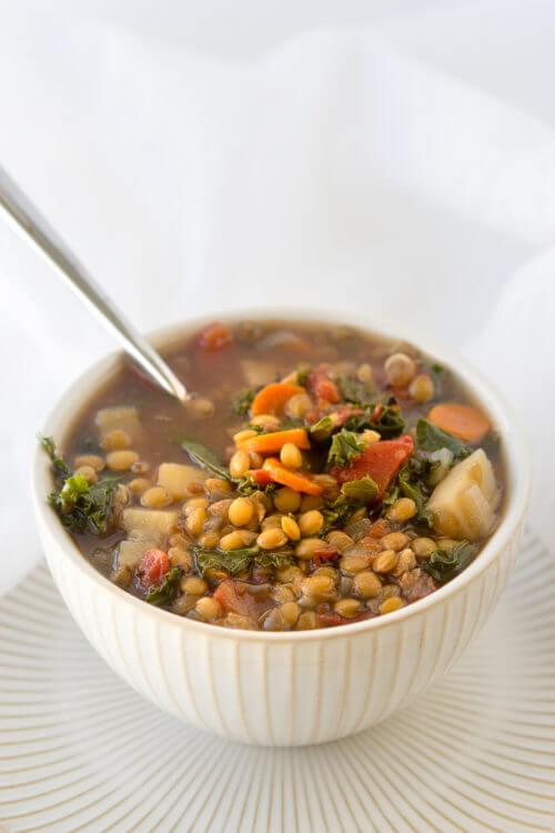 Vegan Crock Pot Vegetable Lentil Soup