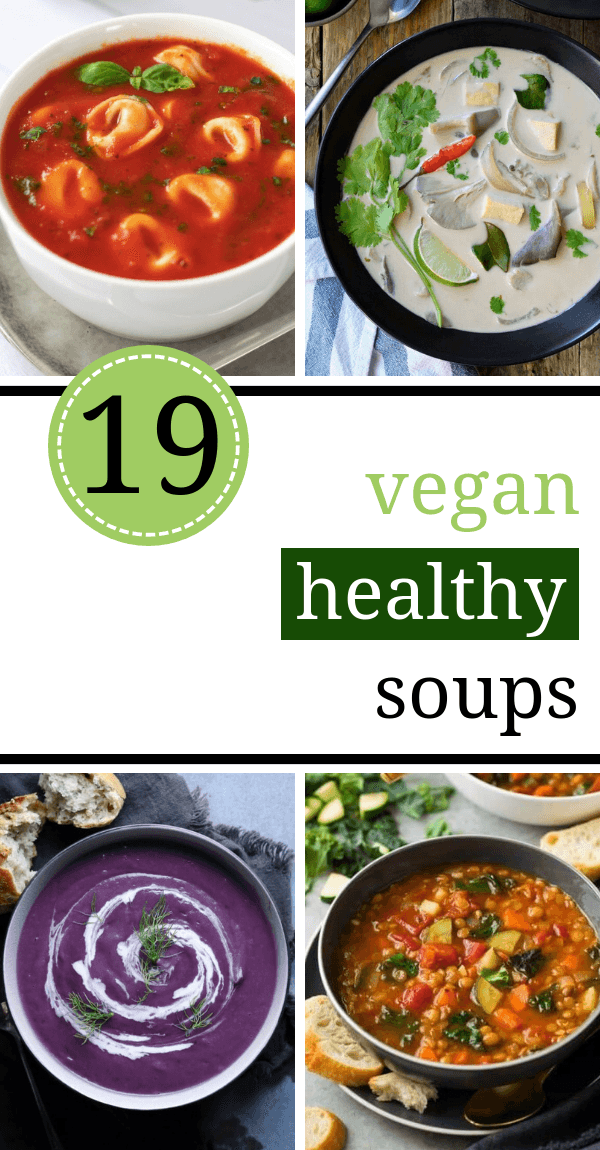These Vegan Soup Recipes are super healthy, dairy-free and plant-based! Full of veggies, potatoes, lentils and other goodness. | The Green Loot #vegan #veganrecipes #healthyeating #cleaneating #dairyfree