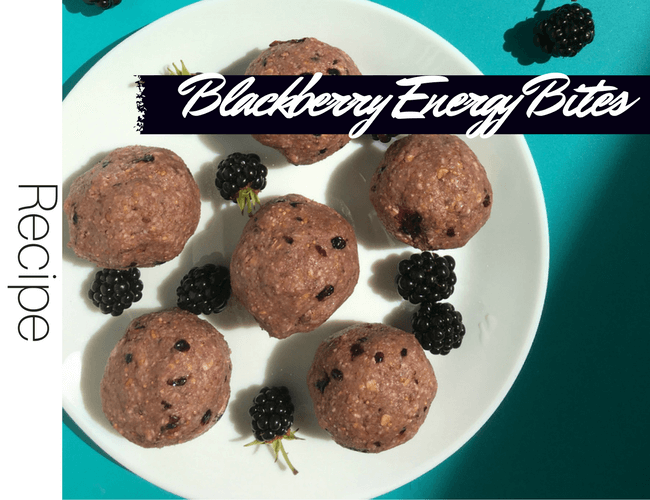 Healthy No Bake Blackberry Energy Bites Vegan Gluten free