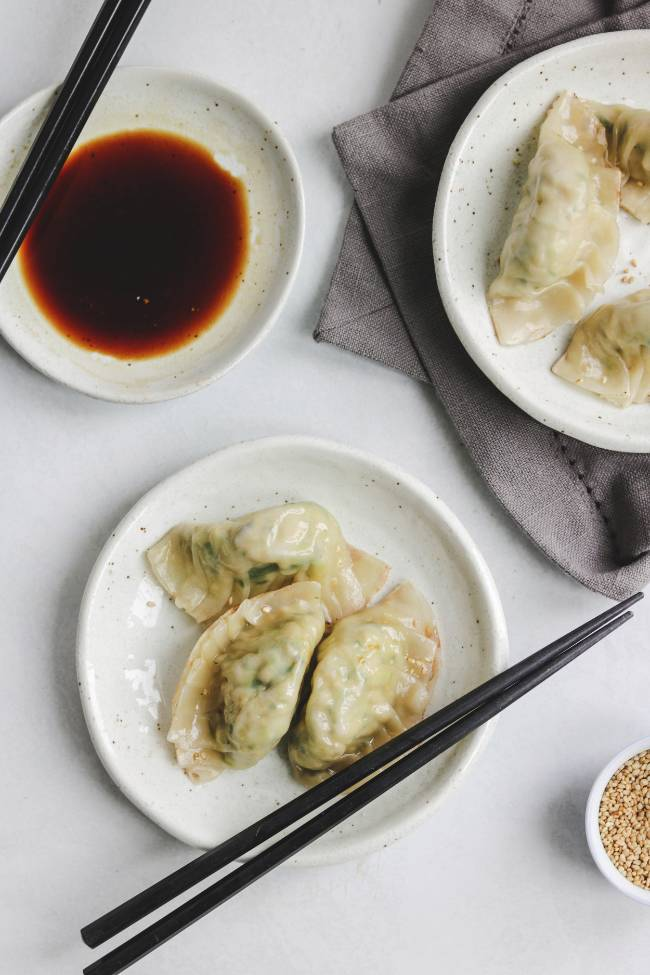 Homemade Gyoza