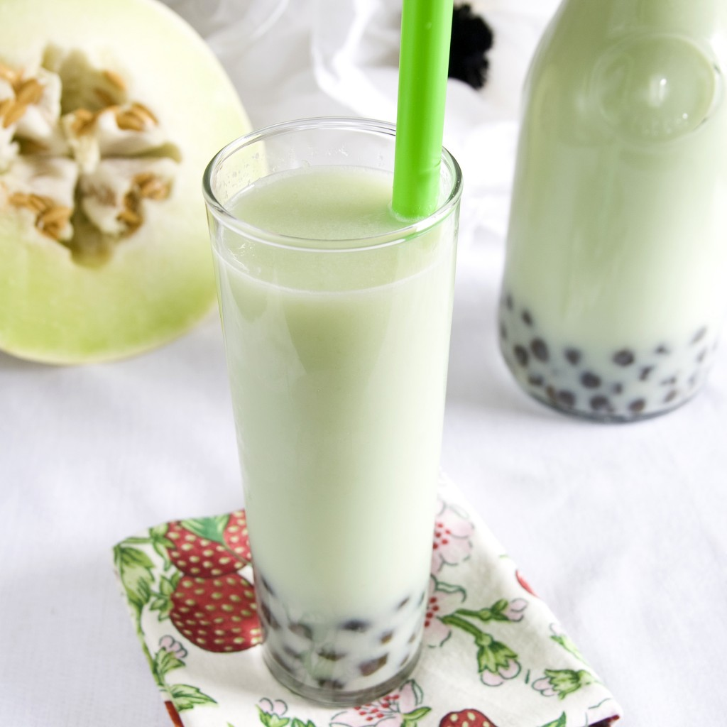 Vegan Honeydew Bubble Tea