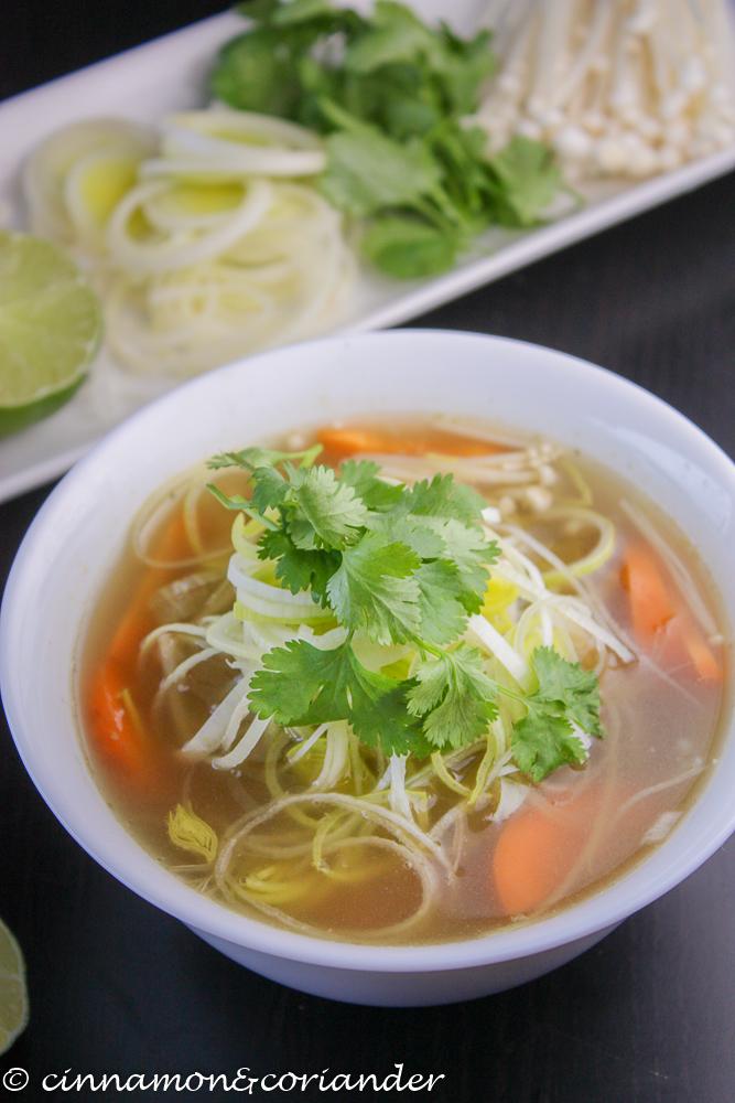 Vegan Vietnamese Pho Noodle Soup