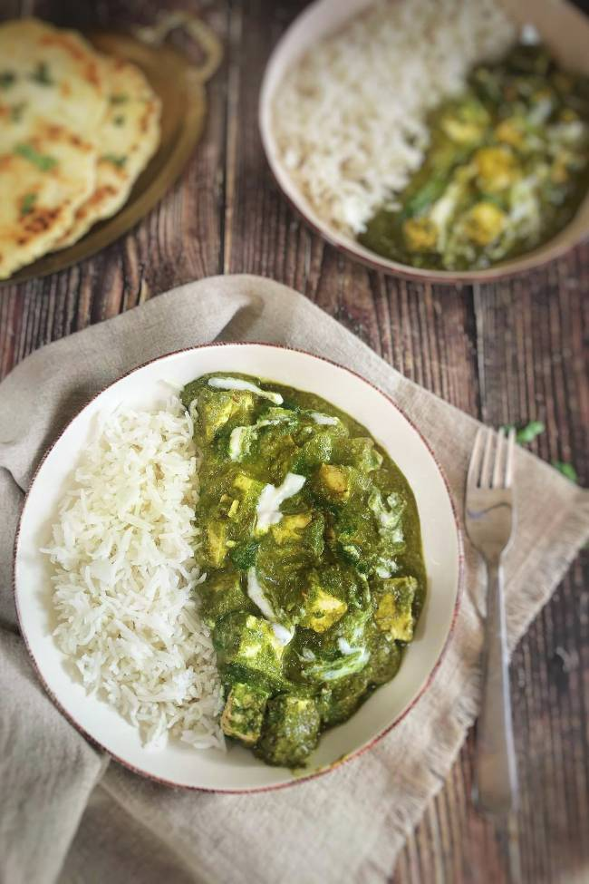Palak Paneer with Tofu