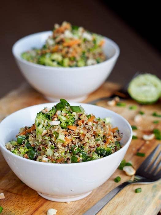 Vegan Thai Veggie Quinoa Bowl