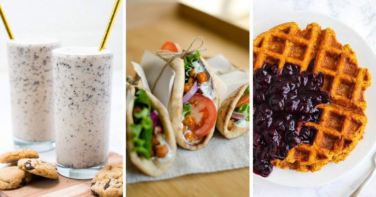 Vegan back to school recipes for kids. Get inspired with these healthy and easy breakfast, lunch, and snack ideas to make your child on busy school days. | The Green Loot #vegan #veganrecipes #healthyeating #mealprep #BackToSchool