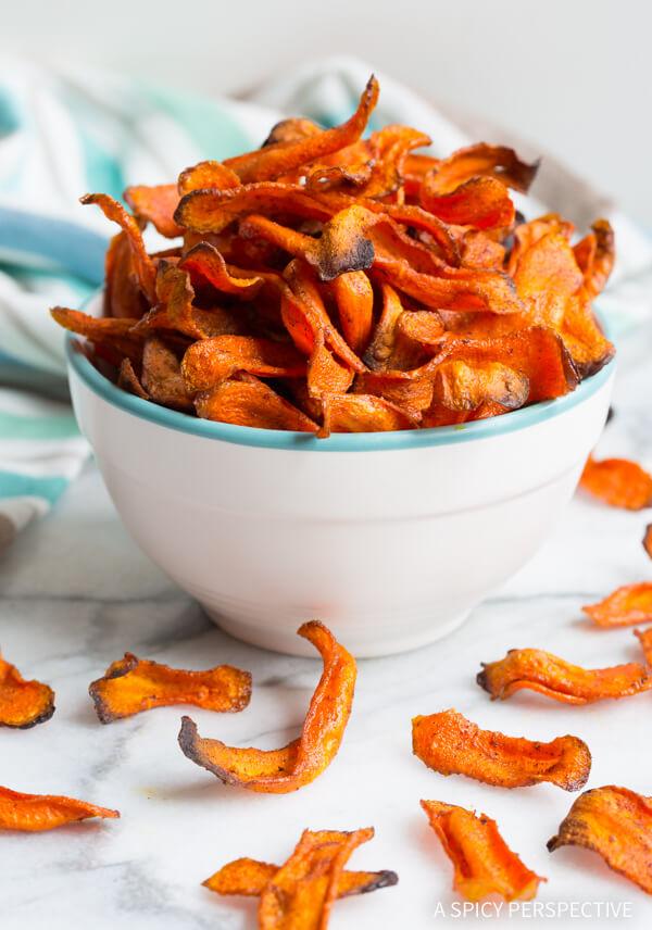 Baked Carrot Chips