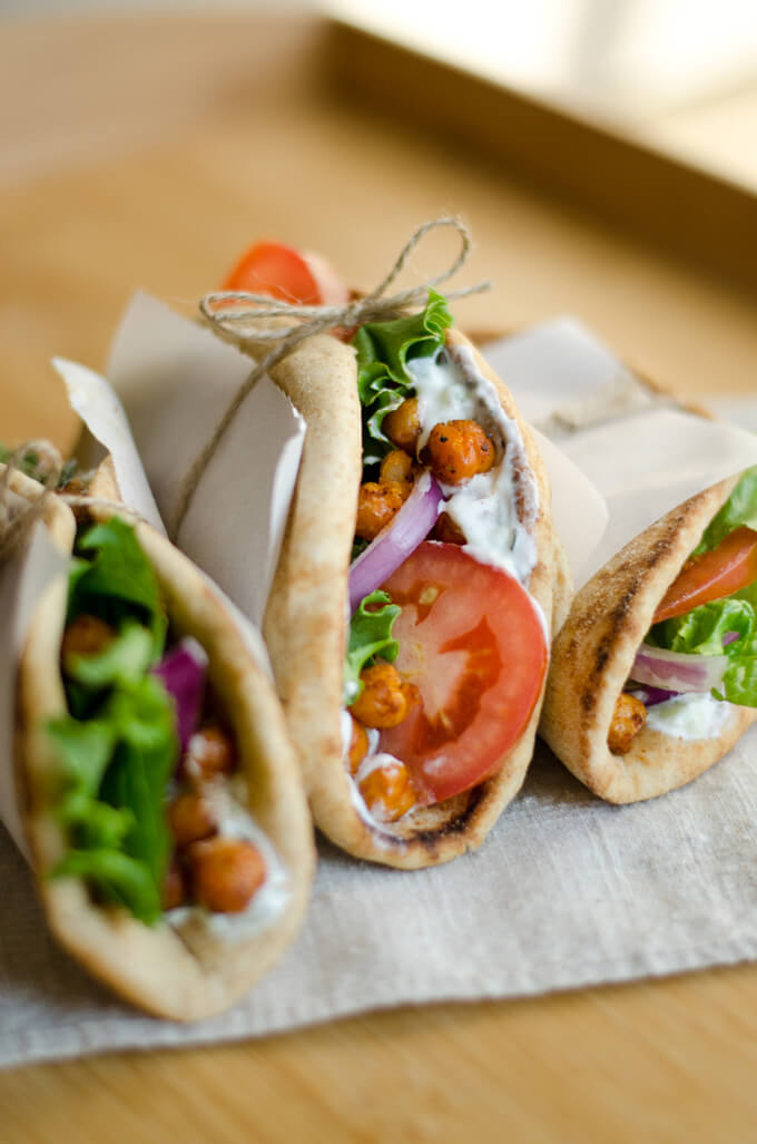 Vegan Roasted Chickpea Gyros
