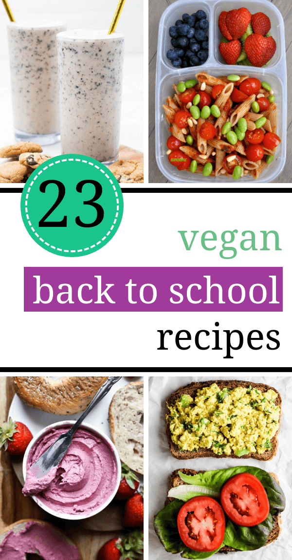 Vegan back to school recipes for kids. Get inspired with these healthy and easy breakfast, lunch, and snack ideas to make your child on busy school days. | The Green Loot #vegan #veganrecipes #healthyeating #healthyrecipes #dairyfree #BackToSchool