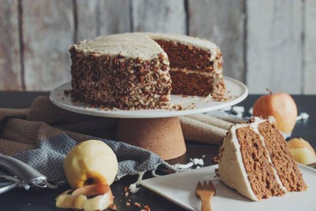 Apple Spice Cake with Maple Buttercream