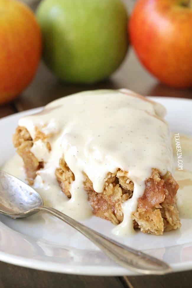 Swedish Apple Pie (gluten-free, whole grain)