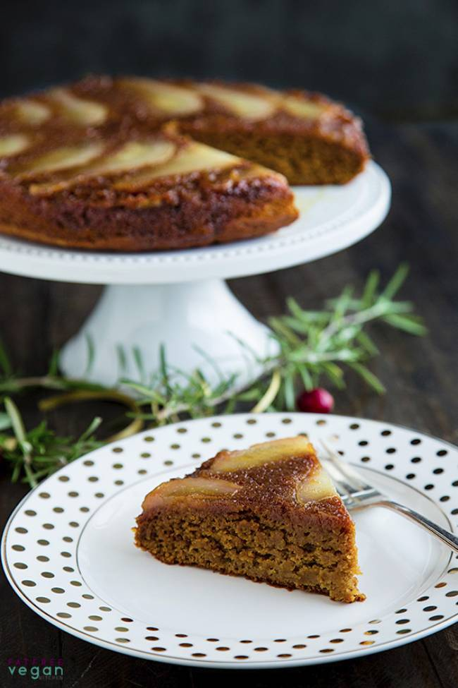 Pear Spice Upside Down Cake