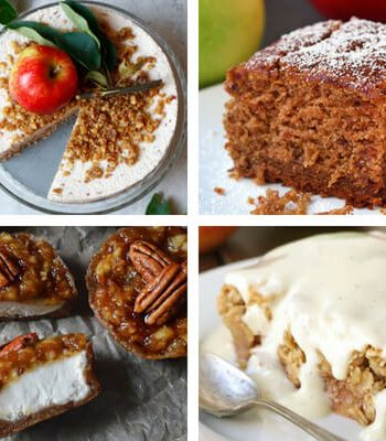 These Vegan Fall Dessert Recipes will get you in that Sweater Weather mood in no time! Cozy cinnamon, apple and pumpkin are the main ingredients in these super tasty and comforting sweet, dairy-free treats. | The Green Loot #vegan #veganrecipes #dairyfree #fallrecipes #comfortfood