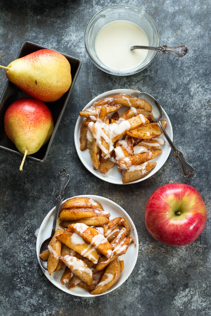 Vegan Sautéed Apples & Pears with Coconut Butter