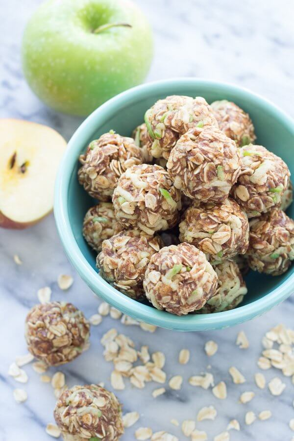 Vegan Apple Cinnamon Cookie Energy Bites
