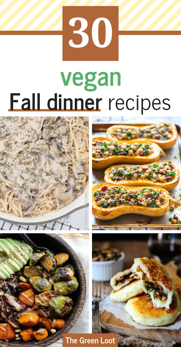 These cozy vegan Fall recipes for dinner are healthy and super tasty. The best Autumn meals that will warm you up even on the coldest evenings! | The Green Loot
