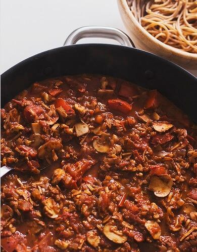 Vegan Mushroom Spicy Bolognese Sauce