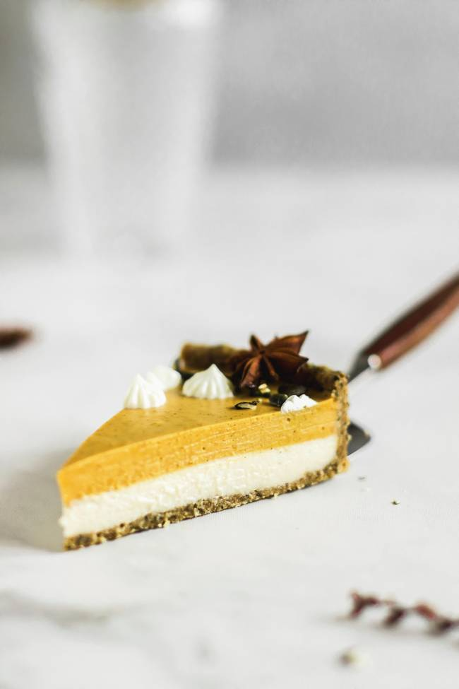 Raw Pumpkin and White Chocolate Tart