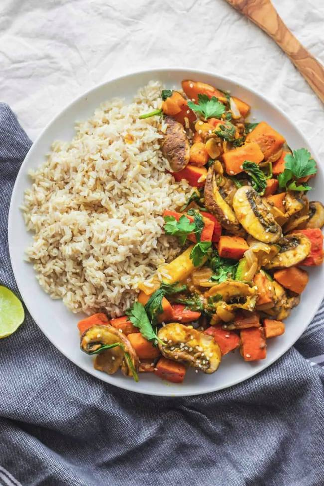 Pumpkin Stir-fry with Veggies
