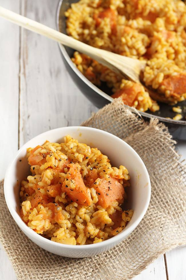 Pumpkin Sweet Potato Risotto