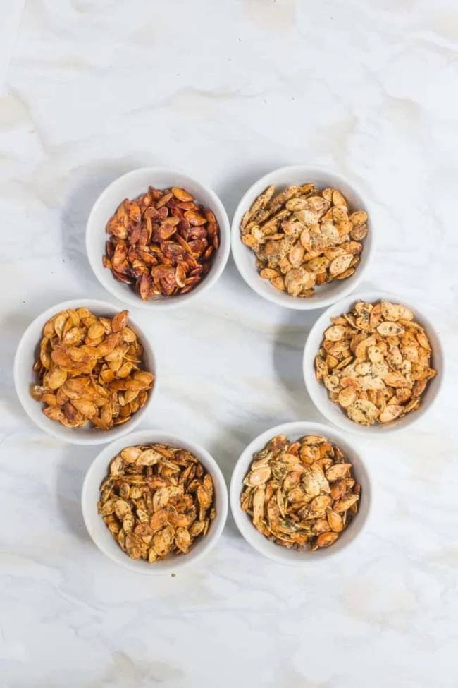 Roasted Pumpkin Seeds Six Ways
