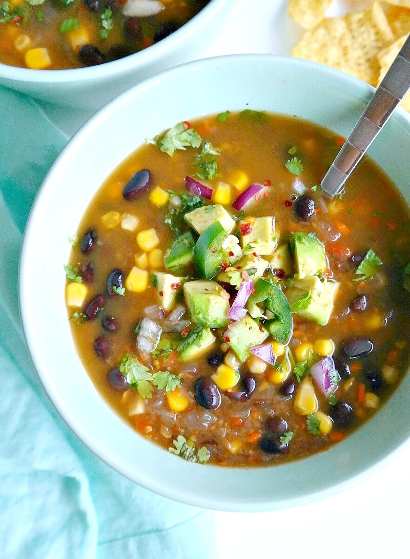 Vegan Spicy Black Bean Soup