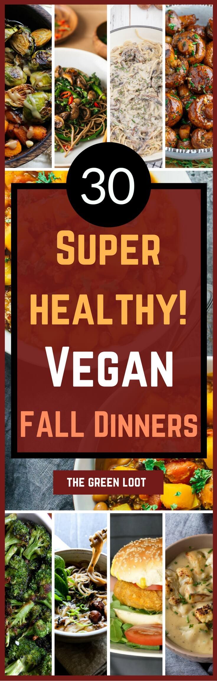 Healthy Vegan Fall Recipes for Dinner