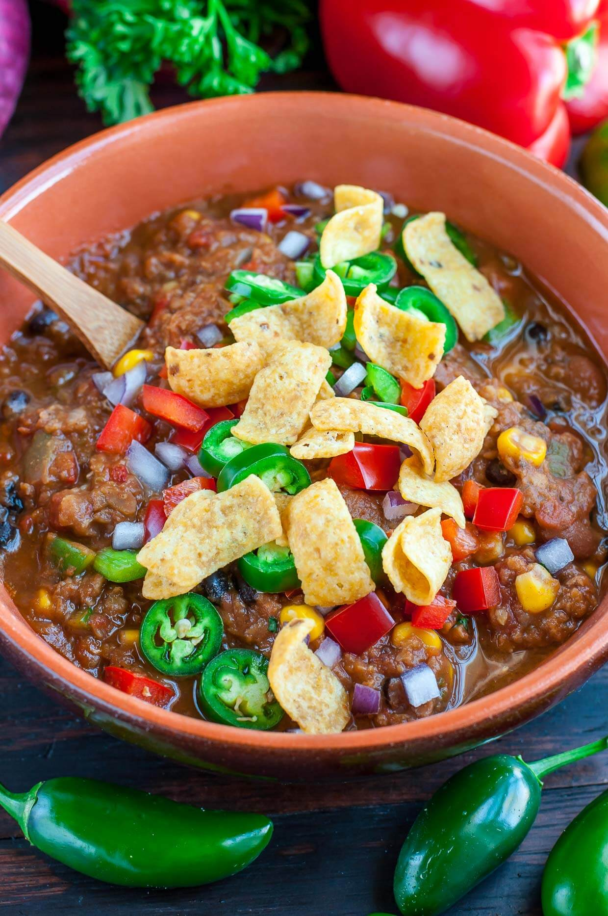 Vegan Lentil Chili // Healthy Vegan Mexican Recipes for Dinner