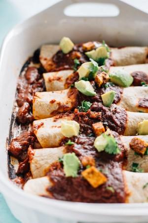 Vegan Spicy Tofu Enchiladas