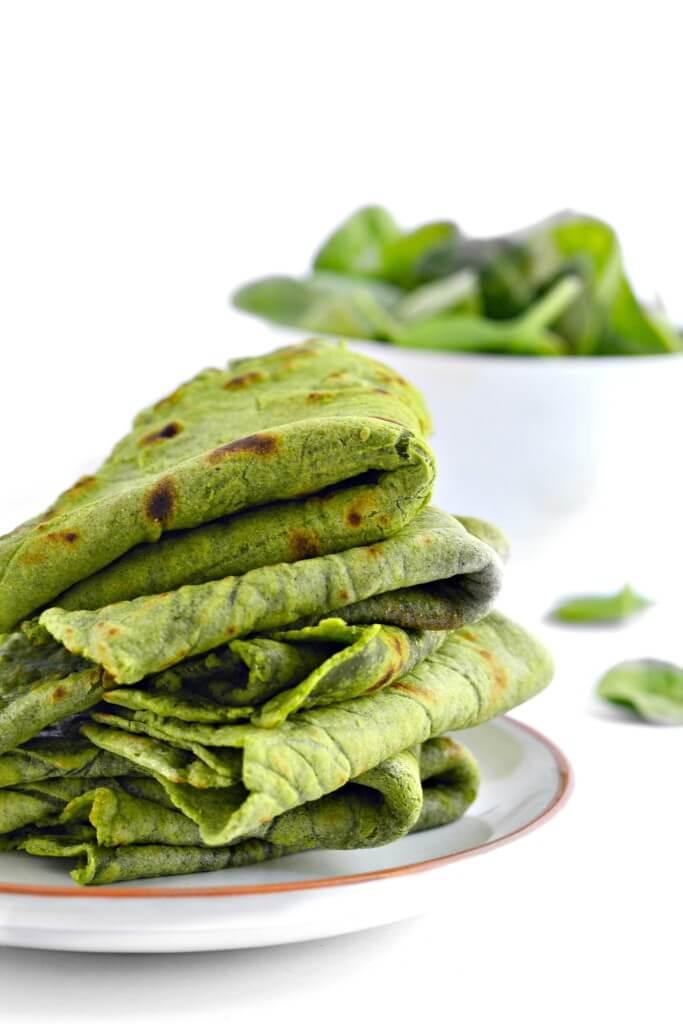 Vegan Homemade Spinach Tortillas (gluten free)