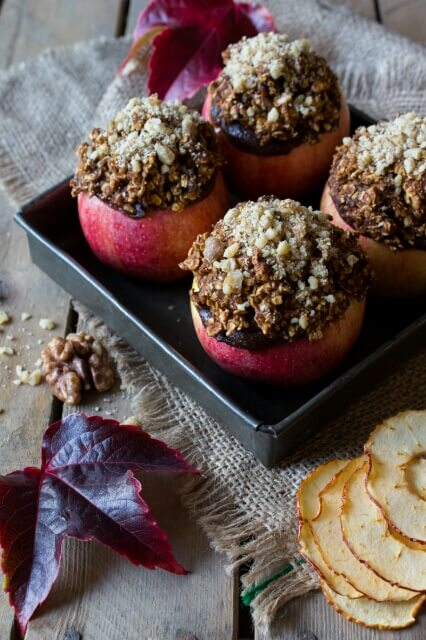 Baked Apples Stuffed with Fruit Mince