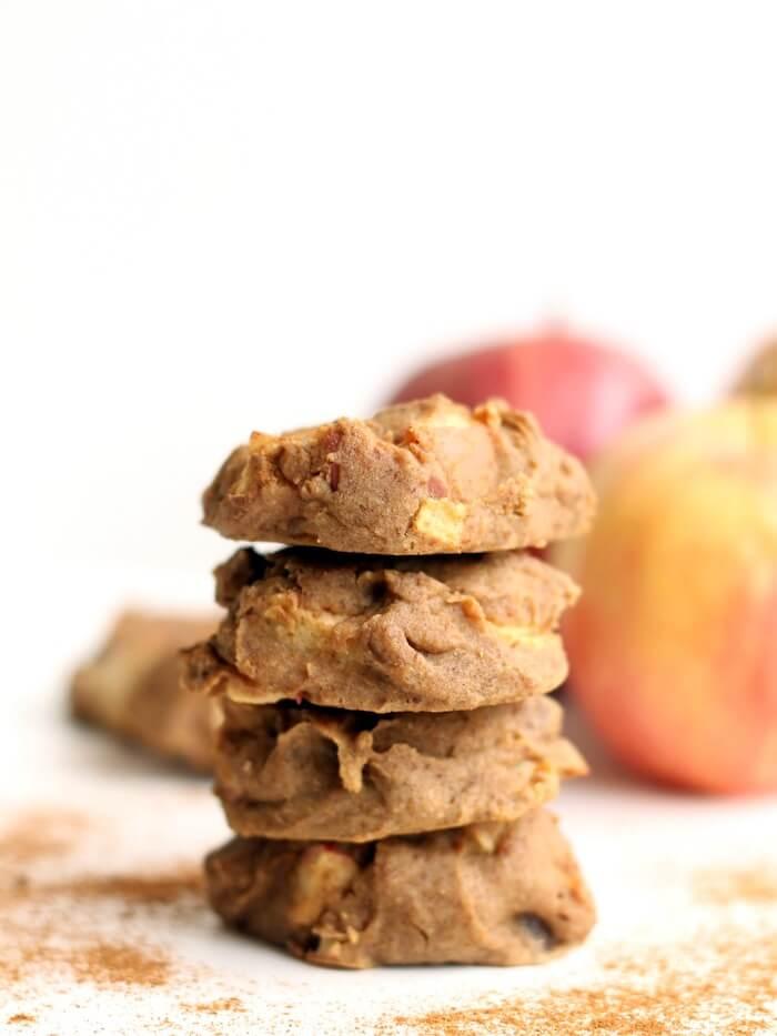 FlourlessApple Cinnamon Chickpea Cookies