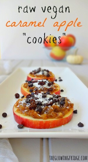 Raw Caramel Apple Cookies