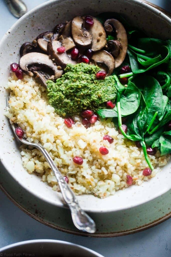 Vegan Detox Cauliflower Mushroom Bowls