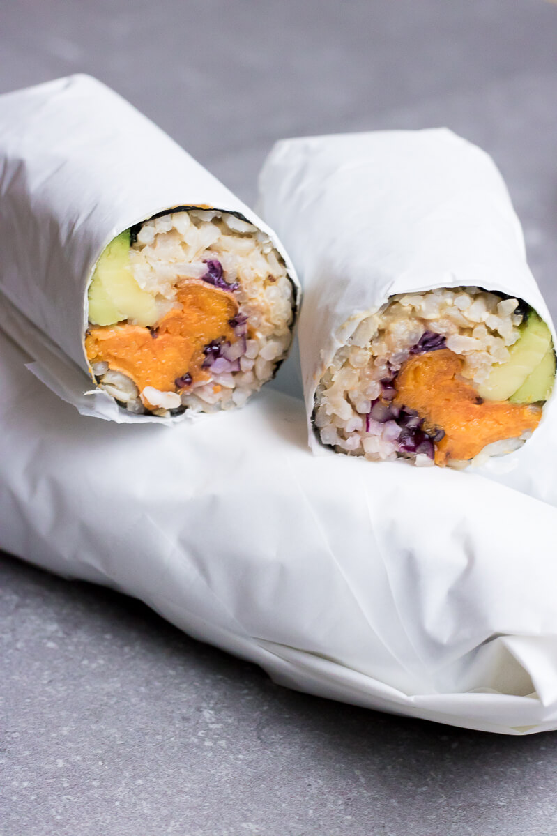 Vegan Sweet Potato Sushi Burrito