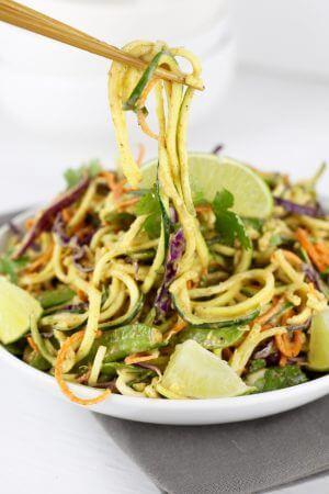 Vegan Spicy Asian Zucchini Noodles