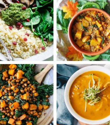 These Vegan Clean Eating Fall Dinner Recipes are super clean, healthy and tasty. Perfect for chilly Autumn evenings. | The Green Loot #vegan #veganrecipes #cleaneating
