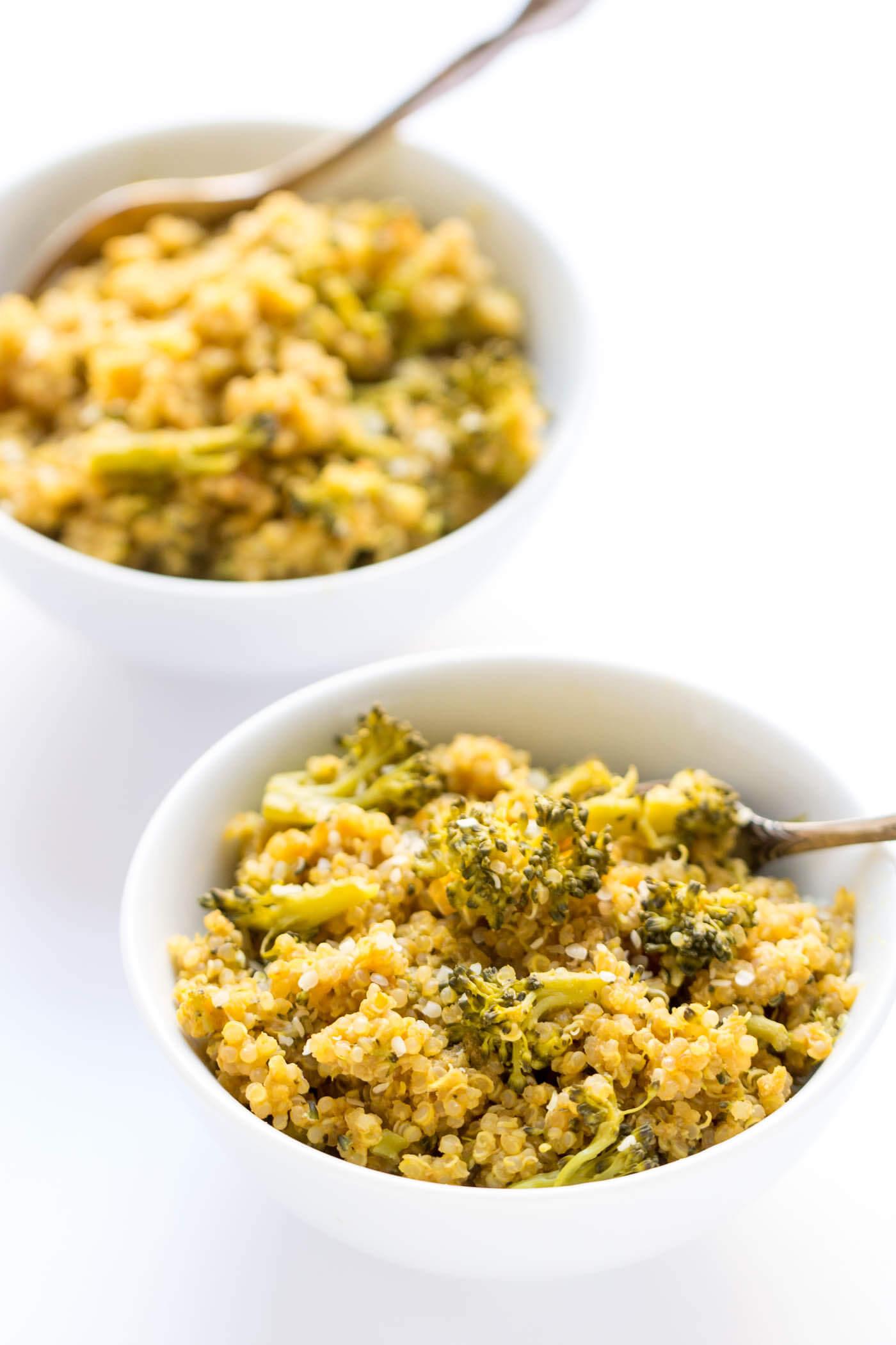 Vegan Broccoli and Quinoa Mac and Cheese