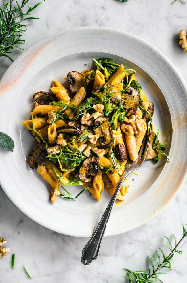 Creamy Herby Mushroom Pasta