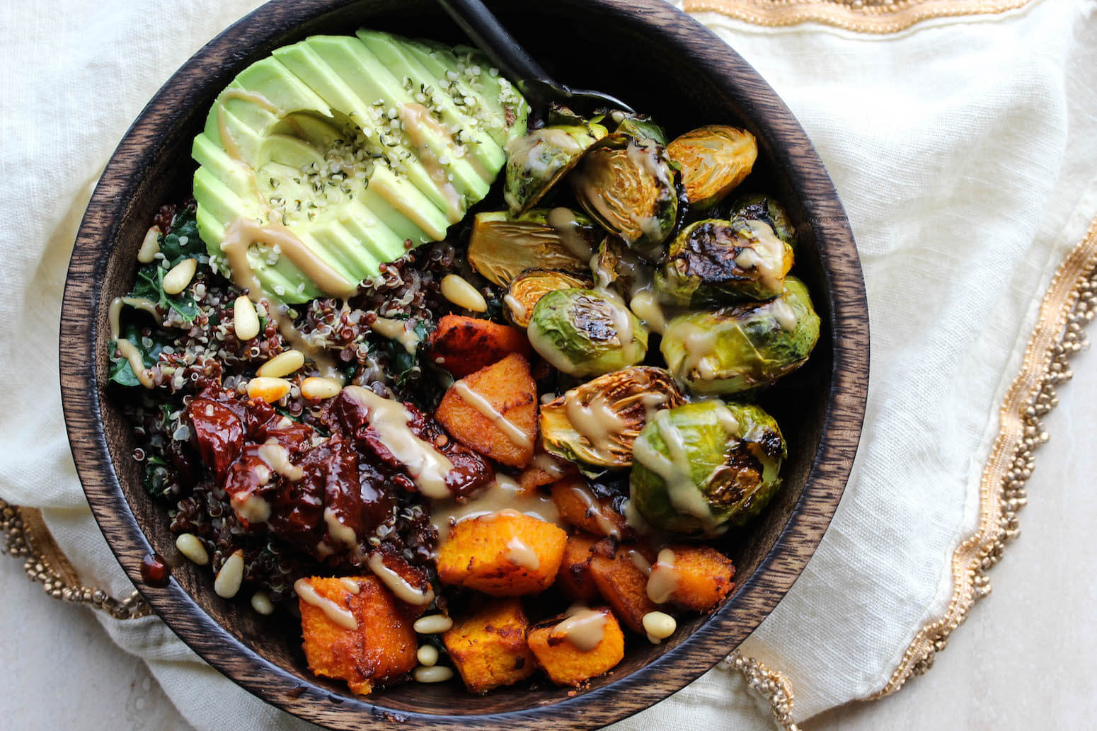 Vegan Quinoa Power Bowls with Smoky Butternut Squash (Healthy Vegan Fall Recipes for Dinner)