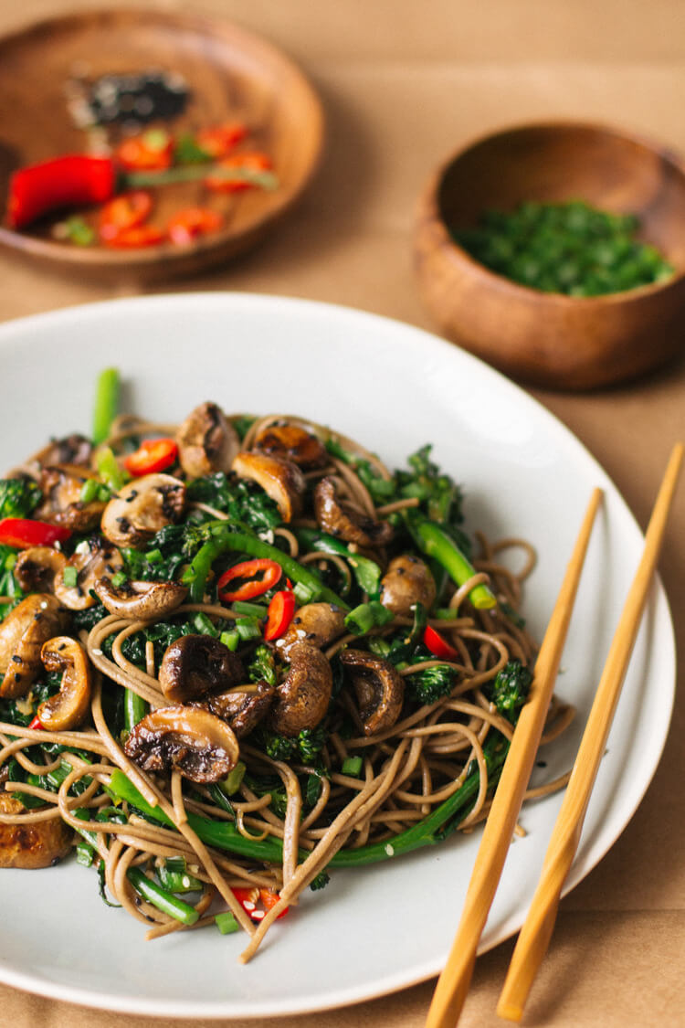 Vegan Roasted Teriyaki Mushrooms