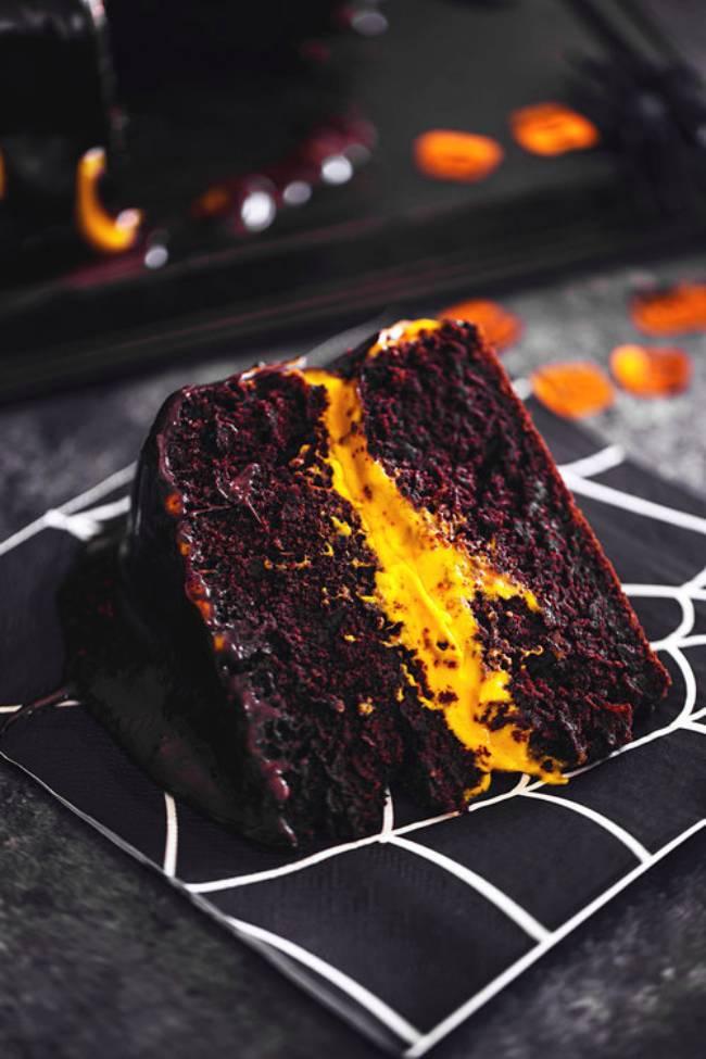Chcocolate Pumpkin Cake with Orange Buttercream