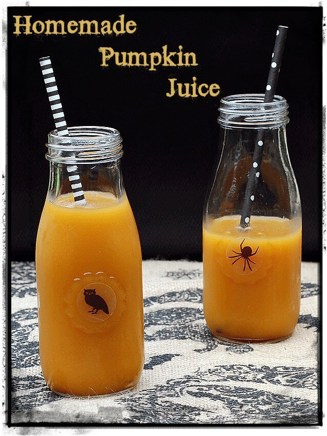 Vegan Homemade Pumpkin Juice // Vegan Halloween Treats, Snacks, Recipes