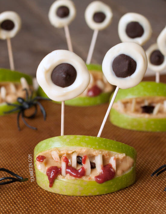 Vegan Healthy Halloween Monster Mouths // Vegan Halloween Treats, Snacks, Recipes
